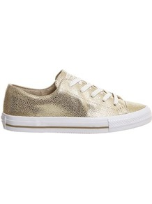 Ctas Gemma Trainers By Converse - predominant colour: gold; occasions: casual, activity; material: leather; heel height: flat; toe: round toe; style: trainers; finish: metallic; pattern: plain; season: a/w 2016