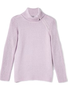 Zip Cowl Jumper, Purple - neckline: cowl/draped neck; pattern: plain; style: standard; predominant colour: lilac; occasions: casual, creative work; length: standard; fibres: cotton - mix; fit: standard fit; sleeve length: long sleeve; sleeve style: standard; texture group: knits/crochet; pattern type: knitted - other; season: a/w 2016; wardrobe: highlight