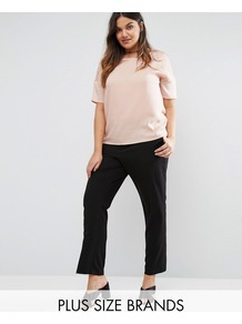 Tailored Trouser Black - pattern: plain; style: peg leg; waist: mid/regular rise; predominant colour: black; occasions: work; length: ankle length; fibres: polyester/polyamide - 100%; texture group: crepes; fit: tapered; pattern type: fabric; wardrobe: basic; season: a/w 2016