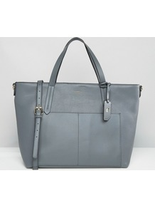 Dahlia Tote Grey - predominant colour: mid grey; type of pattern: standard; style: tote; length: handle; size: standard; material: faux leather; pattern: plain; finish: plain; occasions: creative work; wardrobe: investment; season: a/w 2016