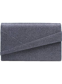 Heidi Clutch Bag - predominant colour: mid grey; occasions: evening, occasion; type of pattern: standard; style: clutch; length: hand carry; size: standard; material: faux leather; pattern: plain; finish: plain; season: a/w 2016; wardrobe: event