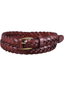 Women Mesh Belt Wine - predominant colour: burgundy; occasions: casual, creative work; type of pattern: standard; style: plaited/woven; size: skinny; worn on: hips; material: leather; pattern: plain; finish: plain; season: a/w 2016