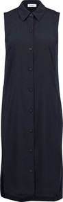 Crepe Tunic Midnight Blue - neckline: shirt collar/peter pan/zip with opening; pattern: plain; sleeve style: sleeveless; style: tunic; predominant colour: navy; occasions: casual, creative work; fibres: polyester/polyamide - mix; fit: body skimming; length: mid thigh; sleeve length: sleeveless; texture group: crepes; pattern type: fabric; wardrobe: basic; season: a/w 2016