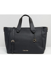 Ck Jeans Tote Bag Black - predominant colour: black; occasions: casual, work, creative work; type of pattern: standard; style: tote; length: handle; size: oversized; material: faux leather; pattern: plain; finish: plain; wardrobe: investment; season: a/w 2016