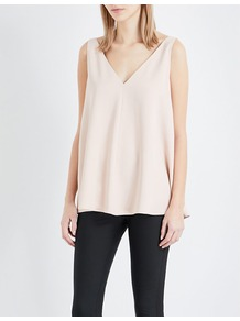 Sutton Stretch Crepe Top, Women's, Pink/Red/Lightpink - neckline: low v-neck; sleeve style: standard vest straps/shoulder straps; pattern: plain; predominant colour: blush; occasions: casual, holiday; length: standard; style: top; fit: loose; sleeve length: sleeveless; texture group: crepes; pattern type: fabric; fibres: viscose/rayon - mix; wardrobe: basic; season: a/w 2016