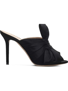Ilona Satin Mules, Women's, Eur 38 / 5 Uk Women, Black - predominant colour: black; occasions: evening, occasion; material: satin; heel height: high; heel: stiletto; toe: open toe/peeptoe; style: mules; finish: plain; pattern: plain; embellishment: bow; season: a/w 2016; wardrobe: event