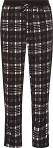 Womens Check Print Joggers Black - length: standard; pattern: checked/gingham; style: tracksuit pants; waist detail: elasticated waist; waist: mid/regular rise; secondary colour: white; predominant colour: black; occasions: casual, evening, creative work; fibres: polyester/polyamide - stretch; fit: slim leg; pattern type: fabric; texture group: jersey - stretchy/drapey; season: a/w 2016; wardrobe: highlight