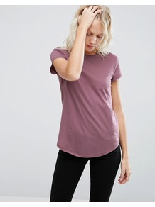 The Ultimate Crew Neck T Shirt Berry - sleeve style: capped; pattern: plain; style: t-shirt; occasions: casual; length: standard; fibres: cotton - 100%; fit: body skimming; neckline: crew; sleeve length: short sleeve; pattern type: fabric; texture group: jersey - stretchy/drapey; predominant colour: dusky pink; season: a/w 2016; wardrobe: highlight