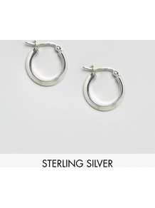 Sterling Silver 20mm Tube Hoop Earrings Sterling Silver - predominant colour: silver; occasions: casual, work, creative work; style: hoop; length: mid; size: standard; material: chain/metal; fastening: pierced; finish: metallic; wardrobe: basic; season: a/w 2016