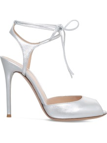 Muse Metallic Leather Sandals, Women's, Eur 39 / 6 Uk Women, Silver - predominant colour: silver; occasions: evening; material: leather; heel height: high; ankle detail: ankle strap; heel: stiletto; toe: open toe/peeptoe; style: standard; finish: metallic; pattern: plain; season: a/w 2016; wardrobe: event