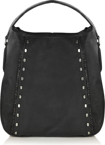 Yoki Bag - predominant colour: black; occasions: casual; type of pattern: standard; style: shoulder; length: shoulder (tucks under arm); size: oversized; material: leather; embellishment: studs; pattern: plain; finish: plain; wardrobe: investment; season: a/w 2016