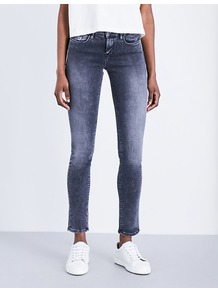 Body 2.0 Skinny Mid Rise Jeans, Women's, Volcano - style: skinny leg; length: standard; pattern: plain; pocket detail: traditional 5 pocket; waist: mid/regular rise; predominant colour: navy; occasions: casual; fibres: cotton - stretch; jeans detail: washed/faded; texture group: denim; pattern type: fabric; wardrobe: basic; season: a/w 2016