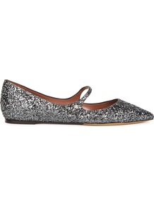 Hermione Gunmetal Glittered Flats - occasions: evening, creative work; material: leather; heel height: flat; embellishment: glitter; toe: pointed toe; style: ballerinas / pumps; finish: metallic; pattern: plain; predominant colour: pewter; wardrobe: basic; season: a/w 2016; trends: metallics, sparkle