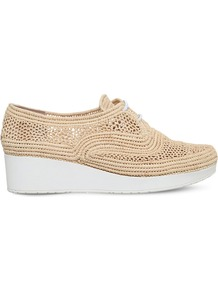 Vicolei Raffia Wedge Loafers, Women's, Eur 38.5 / 5.5 Uk Women, Beige Oth - predominant colour: camel; occasions: casual, creative work; material: leather; heel height: flat; toe: round toe; style: loafers; finish: plain; pattern: plain; shoe detail: platform; season: a/w 2016; wardrobe: highlight