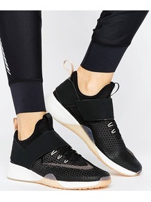 Zoom Strong Trainers In Black Black/Mtlc Red Bronz - secondary colour: camel; predominant colour: black; style: trainers; heel: regular trainer; heel height: flat; activities: train, lifestyle; pattern: plain; type of pattern: standard; material: technical fabric; finish: plain; season: a/w 2016