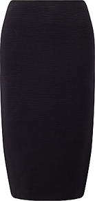 Rib Knit Pencil Skirt, Navy - pattern: plain; style: pencil; fit: body skimming; waist: mid/regular rise; predominant colour: navy; occasions: evening, work; length: on the knee; fibres: polyester/polyamide - mix; pattern type: knitted - big stitch; texture group: other - light to midweight; wardrobe: basic; season: a/w 2016