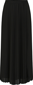 Pleated Maxi Skirt, Black - pattern: plain; length: ankle length; fit: loose/voluminous; style: pleated; waist: high rise; predominant colour: black; occasions: evening; fibres: polyester/polyamide - 100%; hip detail: subtle/flattering hip detail; texture group: sheer fabrics/chiffon/organza etc.; pattern type: fabric; season: a/w 2016; wardrobe: event