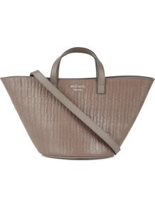 Rosalia Mini Taupe Leather Tote - predominant colour: taupe; occasions: casual, work, creative work; type of pattern: standard; style: tote; length: handle; size: small; pattern: tie dye; finish: plain; material: shearling; season: a/w 2016; wardrobe: highlight