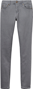 Monroe Skinny Jeans, Grey Wash - style: skinny leg; length: standard; pattern: plain; pocket detail: traditional 5 pocket; waist: mid/regular rise; predominant colour: mid grey; occasions: casual, creative work; fibres: cotton - stretch; texture group: denim; pattern type: fabric; season: a/w 2016; wardrobe: highlight