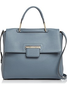 Artesia Medium Color Block Satchel - predominant colour: denim; occasions: casual, work, creative work; type of pattern: standard; style: tote; length: hand carry; size: standard; material: faux leather; pattern: plain; finish: plain; season: a/w 2016; wardrobe: highlight