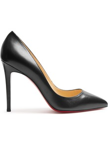 Pigalle Follies 100mm Leather Pumps - predominant colour: black; occasions: evening, work, creative work; material: leather; heel height: high; heel: stiletto; toe: pointed toe; style: courts; finish: plain; pattern: plain; wardrobe: investment; season: s/s 2017