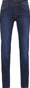 Mid Rise Straight Jeans, Wonder Dark - style: straight leg; length: standard; pattern: plain; pocket detail: traditional 5 pocket; waist: mid/regular rise; predominant colour: navy; occasions: casual; fibres: cotton - stretch; texture group: denim; pattern type: fabric; wardrobe: basic; season: s/s 2017