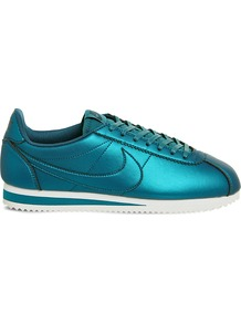 Classic Cortez Og Metallic Trainers, Women's, 5.5, Metallic Turquoise - predominant colour: turquoise; occasions: casual, activity; material: faux leather; heel height: flat; toe: round toe; style: trainers; finish: metallic; pattern: plain; season: s/s 2017