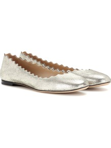 Lauren Leather Ballerinas - predominant colour: silver; occasions: casual, creative work; material: leather; heel height: flat; toe: round toe; style: ballerinas / pumps; finish: metallic; pattern: plain; wardrobe: basic; season: s/s 2017