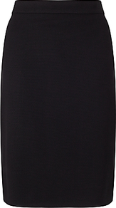 Boss Melala Textured Pencil Skirt, Black - pattern: plain; style: pencil; fit: tailored/fitted; waist: mid/regular rise; predominant colour: black; occasions: work, creative work; length: just above the knee; fibres: polyester/polyamide - stretch; pattern type: fabric; texture group: woven light midweight; wardrobe: basic; season: s/s 2017