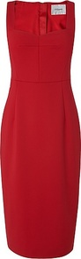 Marlowe Red Body Con Dress - style: shift; pattern: plain; sleeve style: sleeveless; predominant colour: true red; occasions: evening; length: on the knee; fit: body skimming; neckline: scoop; fibres: cotton - stretch; sleeve length: sleeveless; pattern type: fabric; texture group: jersey - stretchy/drapey; wardrobe: event; season: s/s 2017
