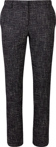 Tabatha Tweed Cigarette Pant - length: standard; pattern: herringbone/tweed; waist: mid/regular rise; secondary colour: ivory/cream; predominant colour: black; occasions: evening, creative work; fibres: wool - mix; fit: slim leg; pattern type: fabric; texture group: tweed - light/midweight; style: standard; pattern size: light/subtle (bottom); wardrobe: highlight; season: s/s 2017