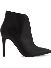 Drima Leather Heeled Ankle Boots, Women's, Eur 38 / 5 Uk Women, Black Leather - predominant colour: black; occasions: casual; material: leather; heel height: high; heel: stiletto; toe: pointed toe; boot length: ankle boot; style: standard; finish: plain; pattern: plain; wardrobe: highlight; season: s/s 2017