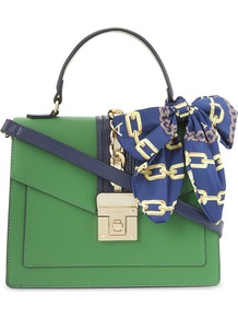 Clearbrook Faux Leather Handbag, Women's, Blue - secondary colour: royal blue; predominant colour: emerald green; occasions: casual; type of pattern: standard; style: structured bag; length: shoulder (tucks under arm); size: standard; material: faux leather; pattern: plain; finish: plain; embellishment: chain/metal; wardrobe: highlight; season: s/s 2017