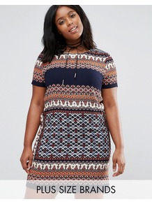 Mosaic Print Cap Sleeve Shift Dress Multi - style: shift; length: mid thigh; secondary colour: navy; predominant colour: camel; occasions: casual, evening; fit: body skimming; fibres: polyester/polyamide - 100%; neckline: crew; sleeve length: short sleeve; sleeve style: standard; pattern type: fabric; pattern: patterned/print; texture group: jersey - stretchy/drapey; multicoloured: multicoloured; wardrobe: highlight; season: s/s 2017