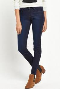 Scarlett Stretch Skinny Jean - style: skinny leg; length: standard; pattern: plain; pocket detail: traditional 5 pocket; waist: mid/regular rise; predominant colour: navy; occasions: casual; fibres: cotton - stretch; texture group: denim; pattern type: fabric; wardrobe: basic; season: s/s 2017