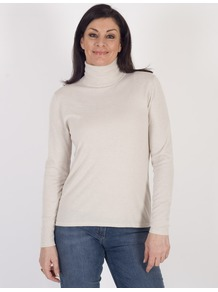 Gerry Weber Stone Fine Knit Roll Neck Jumper - pattern: plain; neckline: roll neck; style: standard; predominant colour: white; occasions: casual; length: standard; fibres: polyester/polyamide - mix; fit: standard fit; sleeve length: long sleeve; sleeve style: standard; texture group: knits/crochet; pattern type: knitted - fine stitch; wardrobe: basic; season: s/s 2017