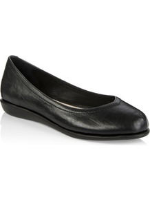Tall Lts Callie Comfy Leather Ballerina At - predominant colour: black; occasions: casual; material: leather; heel height: flat; toe: round toe; style: ballerinas / pumps; finish: plain; pattern: plain; wardrobe: basic; season: s/s 2017