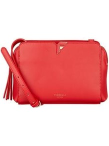 Sadie Crossbody Bag - predominant colour: true red; occasions: casual, creative work; type of pattern: standard; style: shoulder; length: across body/long; size: small; material: leather; pattern: plain; finish: plain; wardrobe: highlight; season: s/s 2017