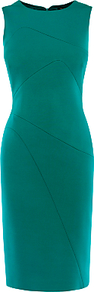 Colourful Scuba Dress, Teal - style: shift; pattern: plain; sleeve style: sleeveless; predominant colour: emerald green; occasions: evening; length: on the knee; fit: body skimming; fibres: viscose/rayon - stretch; neckline: crew; sleeve length: sleeveless; pattern type: fabric; texture group: jersey - stretchy/drapey; wardrobe: event; season: s/s 2017