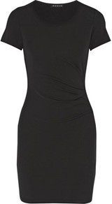 Citkona Ruched Stretch Knit Dress Black - fit: tight; pattern: plain; style: bodycon; predominant colour: black; occasions: evening; length: just above the knee; fibres: viscose/rayon - stretch; neckline: crew; sleeve length: short sleeve; sleeve style: standard; texture group: jersey - clingy; pattern type: fabric; wardrobe: event; season: s/s 2017