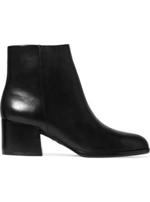 Joey Leather Ankle Boots Black - predominant colour: black; occasions: casual, work, creative work; material: leather; heel height: mid; heel: block; toe: round toe; boot length: ankle boot; style: standard; finish: plain; pattern: plain; wardrobe: basic; season: s/s 2017
