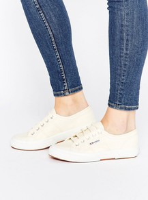 2750 Cotu Classic Trainer Ivory - predominant colour: ivory/cream; occasions: casual, creative work; material: fabric; heel height: flat; toe: round toe; style: trainers; finish: plain; pattern: plain; wardrobe: basic; season: s/s 2017