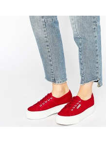 2790 Linea Up Down Trainer Scarlet - predominant colour: true red; occasions: casual, creative work; material: fabric; heel height: flat; toe: round toe; style: trainers; finish: plain; pattern: plain; wardrobe: highlight; season: s/s 2017