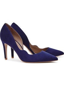 Bardot Womens Suede Point Toe Shoes In Blue - predominant colour: navy; occasions: evening; material: suede; heel height: high; heel: stiletto; toe: pointed toe; style: courts; finish: plain; pattern: plain; wardrobe: event; season: s/s 2017