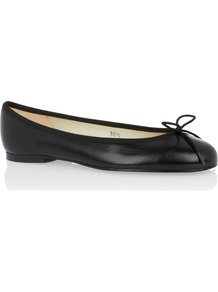 Henrietta Leather - predominant colour: black; occasions: casual, creative work; material: leather; heel height: flat; toe: round toe; style: ballerinas / pumps; finish: plain; pattern: plain; wardrobe: basic; season: s/s 2017