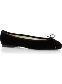 Henrietta Nubuck - predominant colour: black; occasions: casual, creative work; material: suede; heel height: flat; toe: round toe; style: ballerinas / pumps; finish: plain; pattern: plain; wardrobe: basic; season: s/s 2017
