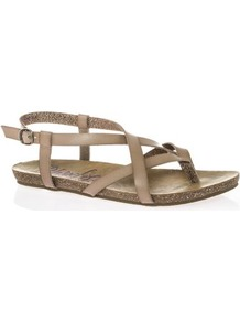 Tall Granola Flat Sandals At Long Tall Sally - predominant colour: camel; occasions: casual, holiday; material: faux leather; heel height: flat; heel: standard; toe: toe thongs; style: strappy; finish: plain; pattern: plain; wardrobe: basic; season: s/s 2017