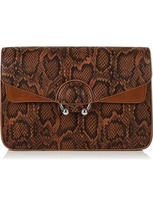 Brown Town Cross Body Bag By Skinnydip - predominant colour: chocolate brown; secondary colour: tan; occasions: casual, creative work; type of pattern: standard; style: shoulder; length: across body/long; size: standard; material: faux leather; pattern: animal print; finish: plain; wardrobe: highlight; season: s/s 2017