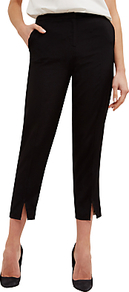 Tipping Detail Trousers, Black - pattern: plain; waist: mid/regular rise; predominant colour: black; occasions: work, creative work; length: calf length; fibres: viscose/rayon - 100%; fit: straight leg; pattern type: fabric; texture group: woven light midweight; style: standard; wardrobe: basic; season: s/s 2017