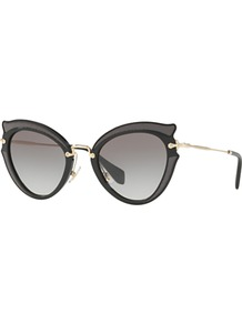 Mu 05 Ss Cat's Eye Sunglasses - predominant colour: black; occasions: casual, holiday; style: novelty; size: small; material: plastic/rubber; pattern: plain; finish: plain; wardrobe: basic; season: s/s 2017